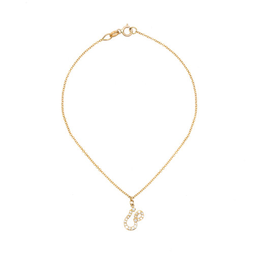 Tiny Treasures Farsi - Arabic Initial Pave Bracelet